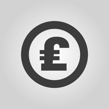 cash: The pound sterling icon. Cash and money, wealth, payment symbol. Illustration