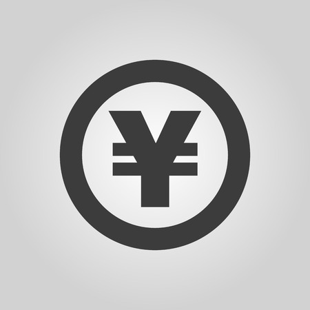 money wealth: The yen icon. Cash and money, wealth, payment symbol.