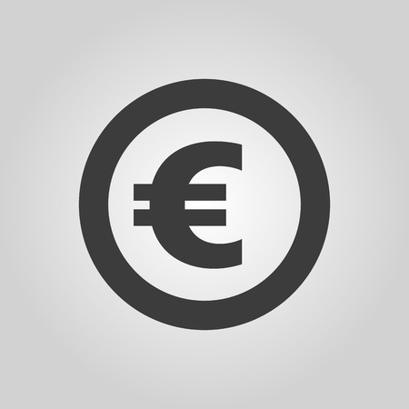 money wealth: The euro icon. Cash and money, wealth, payment symbol.  Illustration