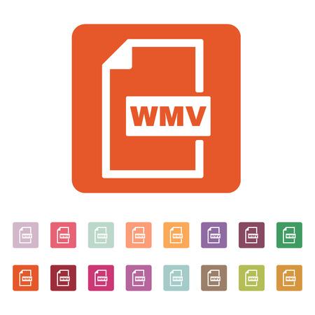wmv: The WMV icon. Video file format symbol.