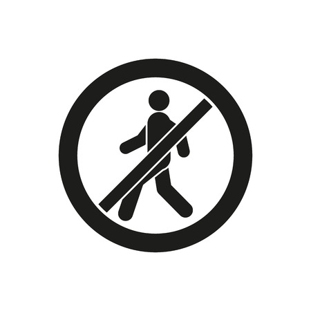 no: The no entry icon. Disallowed and danger, warning symbol. Flat Vector illustration