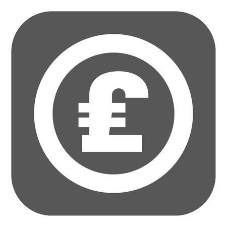 money wealth: The pound sterling icon. Cash and money, wealth, payment symbol. Flat Vector illustration. Button Illustration