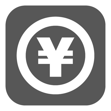 money wealth: The yen icon. Cash and money, wealth, payment symbol. Flat Vector illustration. Button