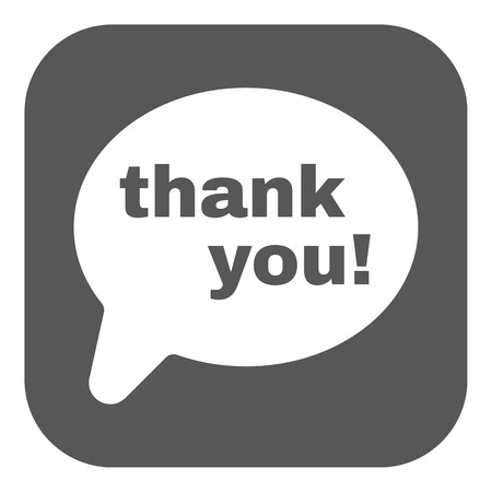 commendation: The thank you  icon. Thanks symbol. Flat Vector illustration. Button