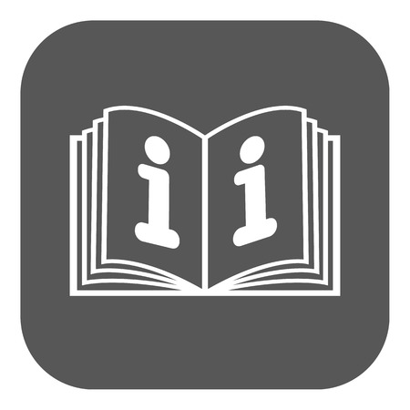 instruction: The open book icon. Manual and tutorial, instruction, encyclopedia symbol. Flat Vector illustration. Button