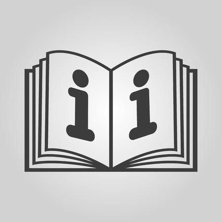 instruction: The open book icon. Manual and tutorial, instruction, encyclopedia symbol. Flat Vector illustration