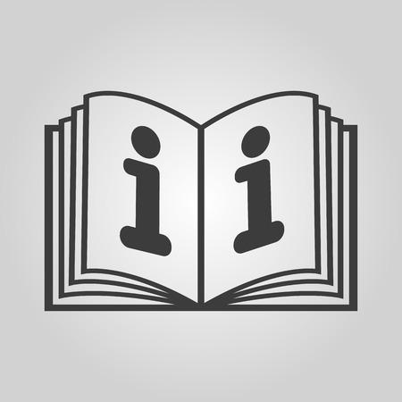 instru��o: The open book icon. Manual and tutorial, instruction, encyclopedia symbol. Flat Vector illustration
