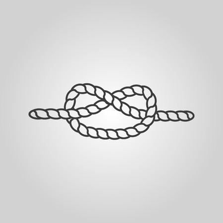 node: The knot icon. Node and tie, rope symbol. Flat Vector illustration Illustration