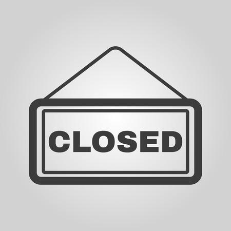 apologize: The closed icon. Locked symbol. Flat Vector illustration