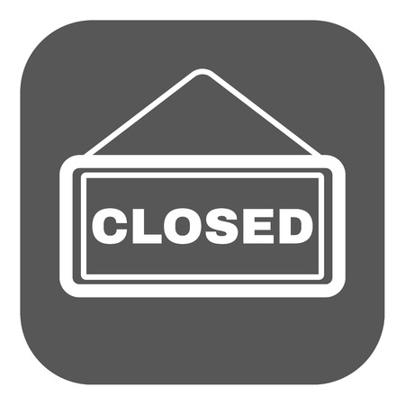 locked: The closed icon. Locked symbol. Flat Vector illustration. Button
