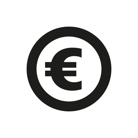 money wealth: The euro icon. Cash and money, wealth, payment symbol. Flat Vector illustration