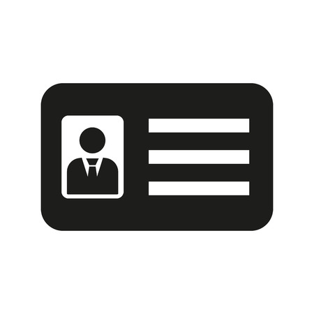 accreditation: The accreditation icon. Admission and badge, identification, pass,  drivers license symbol. Flat Vector illustration