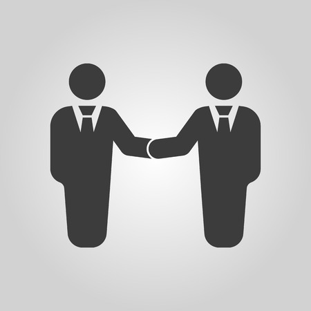 cooperation: The handshake icon. Partnership and negotiation, cooperation symbol. Flat Vector illustration