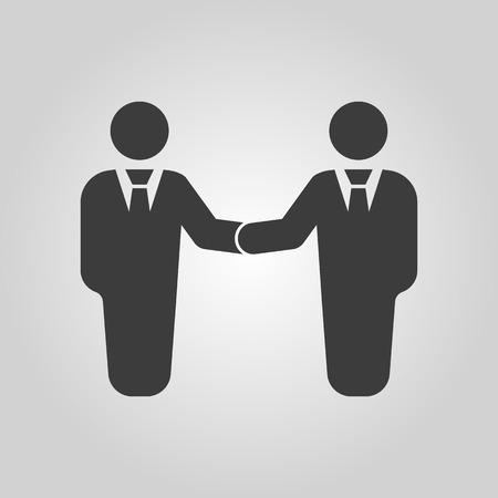 partnership icon: The handshake icon. Partnership and negotiation, cooperation symbol. Flat Vector illustration