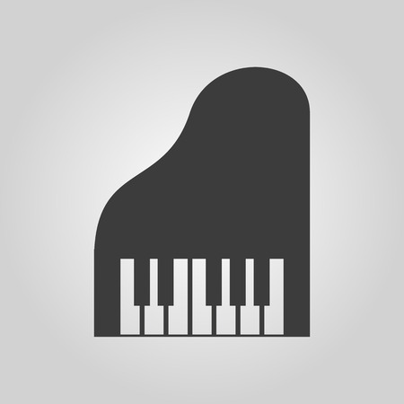 piano: The piano icon. Music and pianist, musician, synthesizer symbol. Flat Vector illustration. Button Set Illustration