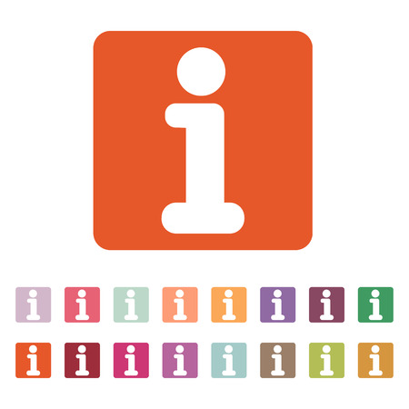 information icon: The information icon Illustration