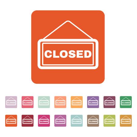 closed: The closed icon Illustration