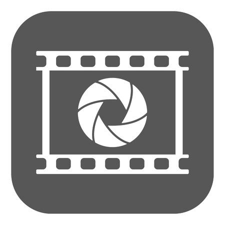 camera film: The camera icon. Photo and diaphragm, photographer, film symbol Illustration