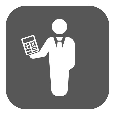 a bank employee: The financier avatar icon. Bank employee and banking, business, investment symbol. Flat Vector illustration. Button