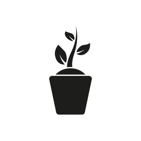 The sprout wreath icon. Plant and herb, nature symbol. Flat Vector illustration