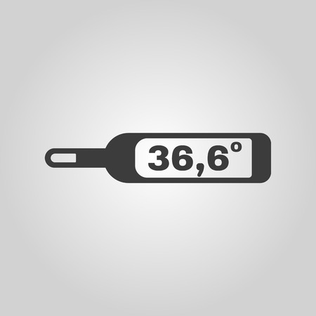 thermometer: The medical thermometer icon. Healthy and diagnostic, doctor, medicine symbol. Flat Vector illustration Illustration