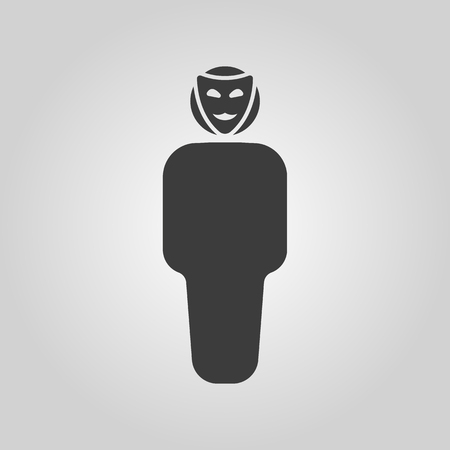 anonym: The anonym icon. Unknown and faceless, impersonal, featureless symbol. Flat Vector illustration