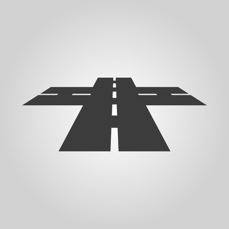 crossroads sign: The crossroads icon. Crossway and crossing, intersection, road,  route symbol. Flat Vector illustration