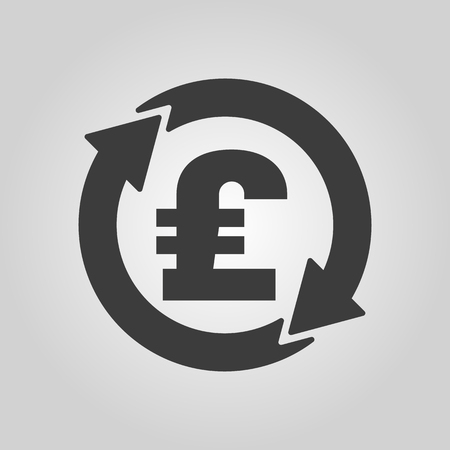 money wealth: The currency exchange pound sterling icon. Cash and money, wealth, payment symbol. Flat Vector illustration Illustration
