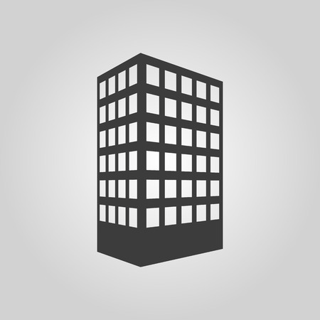 townhouse: The building icon. Apartment and skyscraper, townhouse, house symbol. Flat Vector illustration