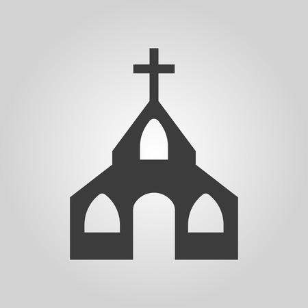 catholic symbol: The church icon. Christian and god, catholic, faith symbol. Flat Vector illustration