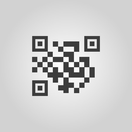 url: The QR code icon.  Link and URL symbol. Flat Vector illustration Illustration