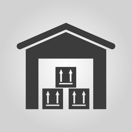 storehouse: El icono de almac�n. Storehouse y s�mbolo de log�stica. Ilustraci�n vectorial Flat