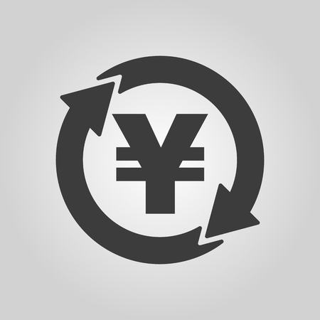 money wealth: The currency exchange yen icon. Cash and money, wealth, payment symbol. Flat Vector illustration Illustration