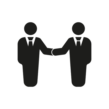 negotiation business: The handshake icon. Partnership and negotiation, cooperation symbol. Flat Vector illustration