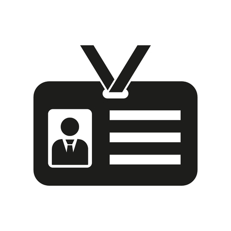 identity card: The accreditation icon. Admission and badge, identification, pass symbol. Flat Vector illustration