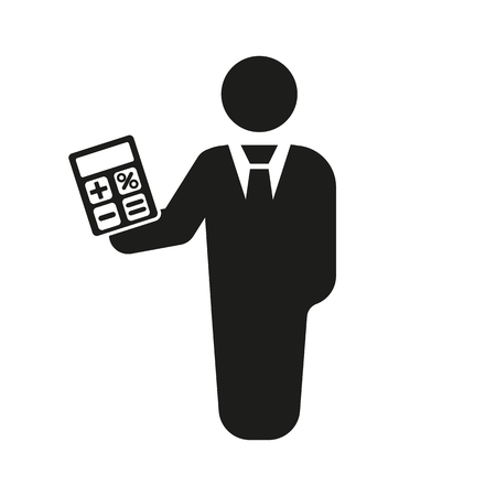financier: The financier avatar icon. Bank employee and banking, business, investment symbol. Flat Vector illustration