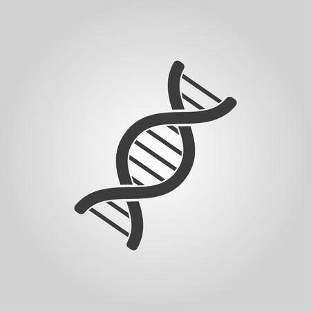 The dna icon. Genetics and medicine, molecule, chromosome,  biology symbol. Flat Vector illustration