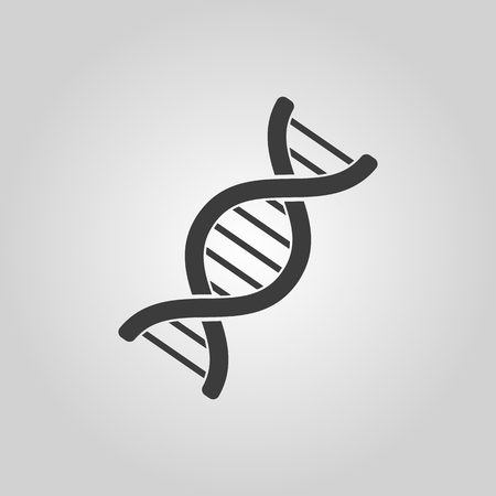 The dna icon. Genetics and medicine, molecule, chromosome,  biology symbol. Flat Vector illustration