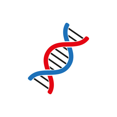 chromosome: The dna icon. Genetics and medicine, molecule, chromosome,  biology symbol. Flat Vector illustration