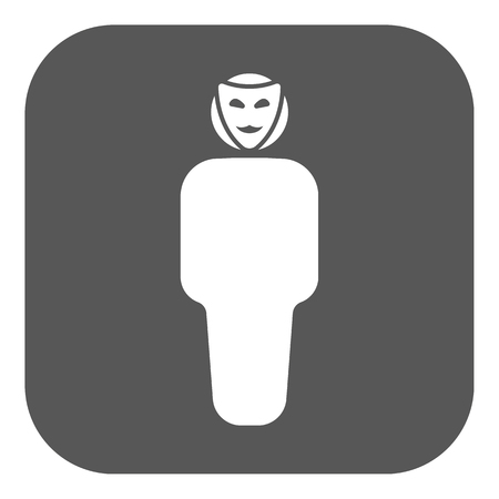 The anonym icon. Unknown and faceless, impersonal, featureless symbol. Flat Vector illustration. Button