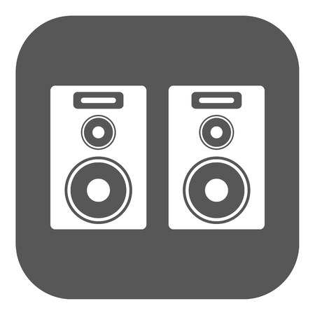 disc jockey: The audio icon. Speaker and music, sound, stereo symbol. Flat Vector illustration. Button