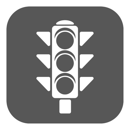 the stoplight: The traffic light icon. Stoplight and  semaphore, crossroads symbol. Flat Vector illustration. Button