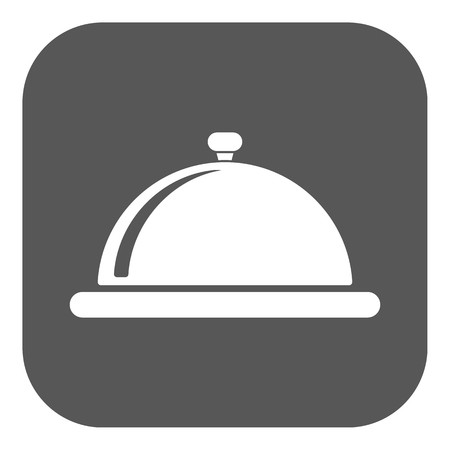 lunch tray: The tray station icon. Breakfast and lunch, dinner, restaurant symbol. Flat Vector illustration. Button Illustration