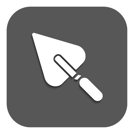 plasterer: The trowel icon. Mason and building, repair, plasterer symbol. Flat Vector illustration. Button Illustration