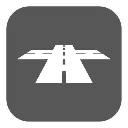 crossway: The crossroads icon. Crossway and crossing, intersection, road,  route symbol. Flat Vector illustration. Button