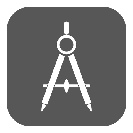 architect plans: The divider icon. Surveyor and geometry, engineer, architect, school symbol. Flat Vector illustration. Button