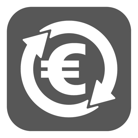 money wealth: The currency exchange euro icon. Cash and money, wealth, payment symbol. Flat Vector illustration. Button