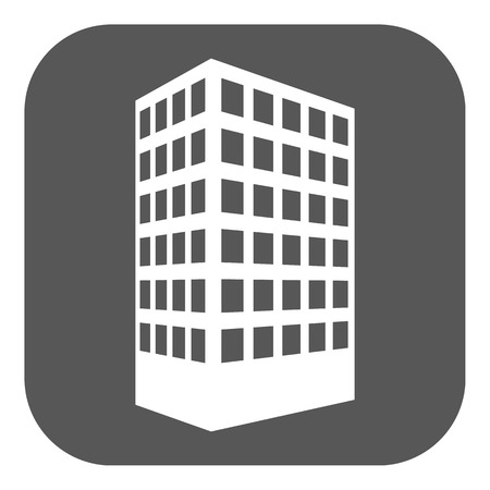 townhouse: The building icon. Apartment and skyscraper, townhouse, house symbol. Flat Vector illustration. Button