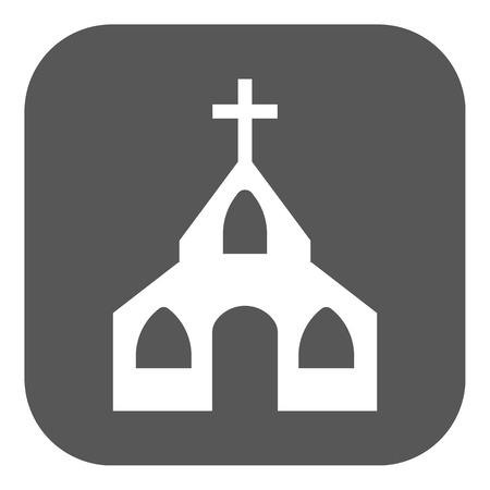 god button: The church icon. Christian and god, catholic, faith symbol. Flat Vector illustration. Button Illustration