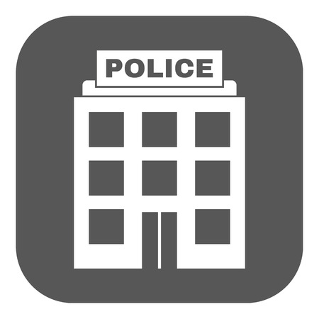 authority: The police icon. Law and authority symbol. Flat Vector illustration. Button
